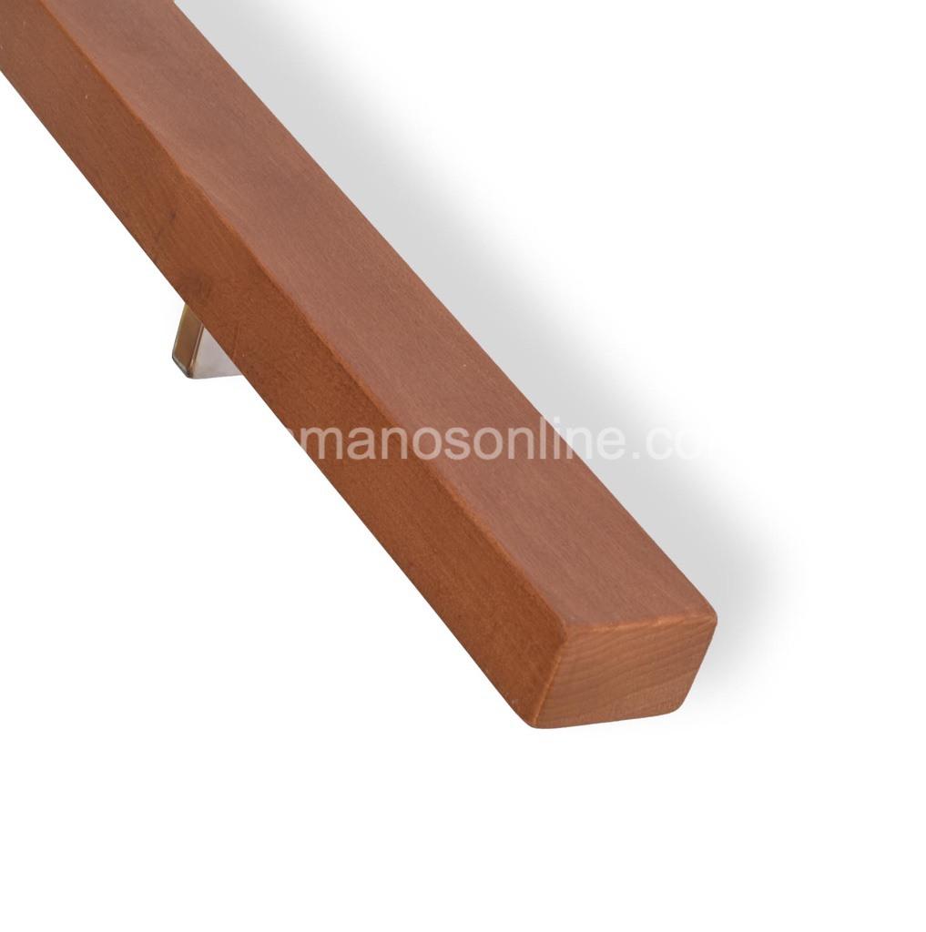 Pasamanos de madera de haya medida 5,3x3,7 cm de perfil.