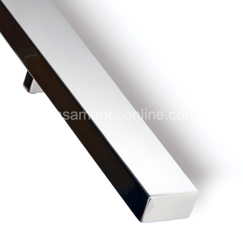Pasamano de acero inoxidable rectangular 5x3 cm